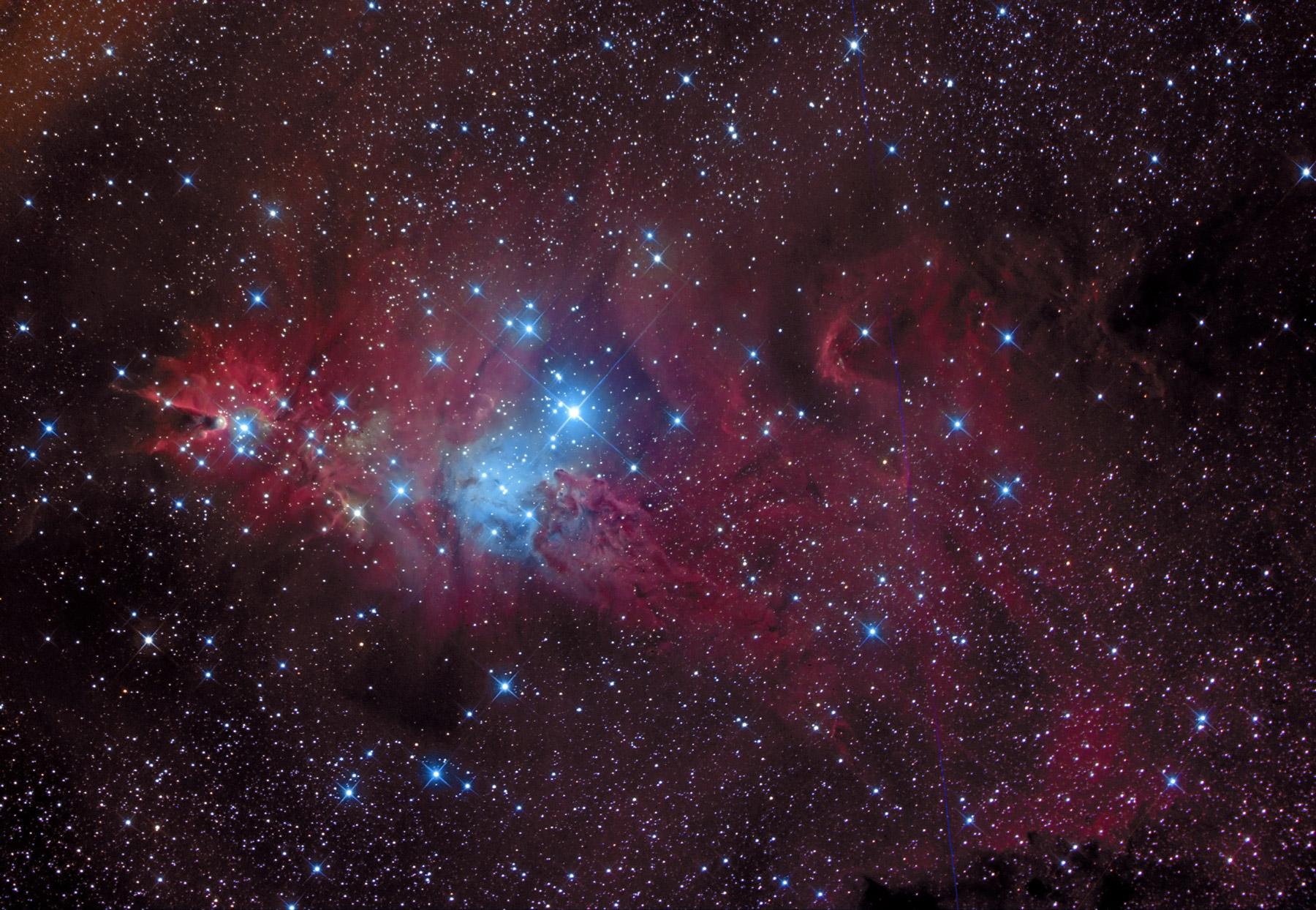 Ngc 2264 cone nebula and christmas tree cluster
